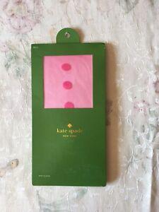 NWT Kate Spade Pink Dots Sheer Tights M/L
