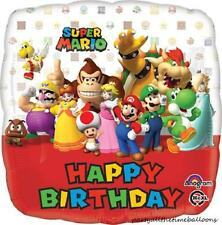 Set of 2 Super Mario BROS Brothers HAPPY BIRTHDAY Balloons Luigi FREE SHIPPING