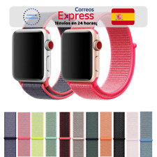Correa Deportiva Tela Nylon 29 Colores - Apple Watch 1/2/3/4/5/6/SE iWatch