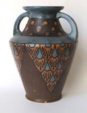 Signé Los Pyrénéos No 1286 , vase en grès , art-déco 1920-30 , céramique du 20e