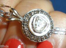 OFFER, MUST HAVE ANTIQUE GENUINE 1 CT OLD ROSE CUT DIAMOND 14K PENDANT, NECKLACE