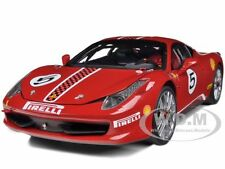 ELITE EDITION FERRARI 458 ITALIA CHALLENGE RED #5 1/18 MODEL CAR HOTWHEELS X5486
