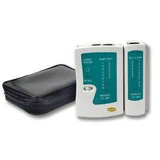 ECOLAN ® Netzwerktester / Kabeltester CAT5/CAT6 /CAT7 mit LED und Tasche