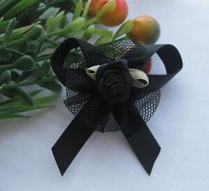 24pcs Upick Ribbon Bows Flowers Rose Appliques wedding Sewing Craft E62