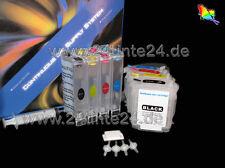 CISS HP DesignJet 111 c4836 c4837 c4838 ch565 hp11 hp82 11 82 senza inchiostro Ink x4