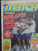 MATCH WEEKLY - ENGLAND ARE BACK - Nov 28 1981