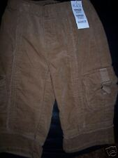 NWT TCP Children's Place Cargo Corduroy Girls Pants Size 18 Months brown Winter
