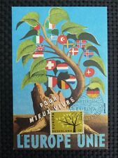NIEDERLANDE MK 1962 EUROPA CEPT MAXIMUMKARTE CARTE MAXIMUM CARD MC CM c3500