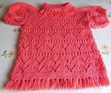 Mädchen-Pullover mit Rundhals-Ausschnitt aus Acryl