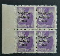 Stamp Germany Block 1948 Bear BERLIN Soviet Sowjetische Besatzungs Zone Roulette