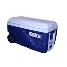 Esky 65L Blue And White Hard Ice King Cooler With Wheels