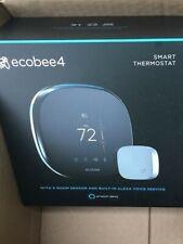 ecobee4 Smart Thermostat W/ Room Sensor & Alexa Voice Service - Brand New!!!