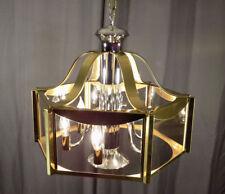 Fredrick Ramond ceiling light fixture brass chrome glass post modern chandelier