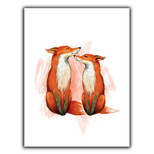 FOXES FOX METAL WALL PLAQUE Sign art poster print Children's Bedroom Playroom