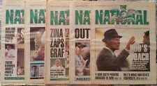 5 Full Issues The National Sports Daily - Tom Landry, Jose Canseco Roger Clemens