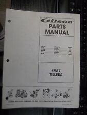 GILSON tractor,gilson 1987 TILLERS,illustrated parts manual,FT2G/5CR/5GR/4F/5S