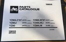 YAMAHA YZ 80 LW J 4LB7 4LB8 PARTS LIST MANUAL CATALOGUE 1997 paper bound copy.