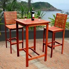 Outdoor Dining Set Lawn Patio Garden Table Chair Wood Bar Top Furniture Sets NEW