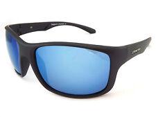Dirty Dog SPLINT Polarized Mens Sunglasses Satin Black  / Blue Mirror 53432