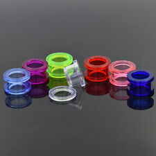2mm - 36mm Large Screw On Acrylic Stretcher Earing Flesh Tunnel Earplug Expander