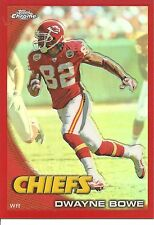 2010 Topps Chrome Dwayne Bowe Red Refractor Football Card #C177 (#15 of 25)