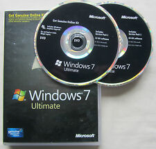 MICROSOFT Windows 7 Ultimate Genuine FULL UK 32-Bit 64-Bit DVD
