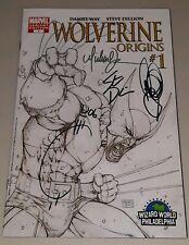 Wolverine origins 1 wizard world signed x4 Turner 2006 vf marvel comics