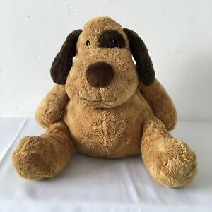 Boots Brown Patch Puppy Dog Beanie Plush Soft Toy H 10 inch