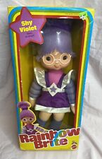 "1983 Rainbow Brite Shy Violet 18"" Doll w/ Glasses - Original Box - Nrfb - Minty"