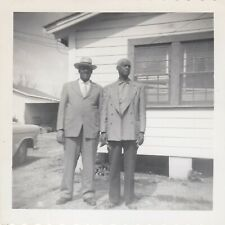 Vintage Photo Black African American Men Well Dressed in Suits Older Guys