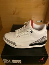 🚨👟Air Jordan III 3 White Cement Retro 2011 NEW Sz 9 DEADSTOCK. New With Box 💯