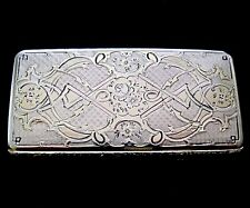 Superb Antique French Hallmarked 950 Solid Silver Snuff Box in Mint Condition