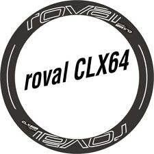 New Two Wheel Set Stickers for Roval CLX 64 CLX64 Rim / Disc Road Bike Decals