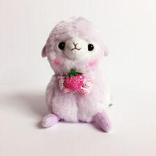 AMUSE Ichigo Berry Baby Alpacasso Purple Boy (16cm) Alpaca Arpakasso Plush NWT
