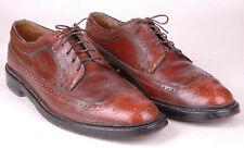 Florsheim Imperial V- Cleat Brown Long Wing Mens-9 D-650222-Wingtip Dress Shoes