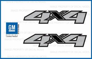 set of 2 - 2009 Chevy Silverado 4x4 decals - F  side 1500 2500 HD stickers truck
