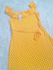 Boden Bethany Jersey Dress yellow Happy Star Spot Dress Size 16 L Regular BNWT
