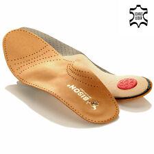 BISON Leder LUXUS orthopädische Schuheinlagen Premium Fußbett einlege Sohlen NEU