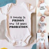 Newborn Baby Bodysuit Summer Clothes Boys Girls Jumpsuits Letter Short Sleeves
