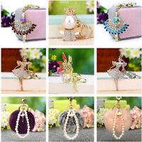 Crystal Fairy Angel Pendant Keyring Car Keychain Bag Charm Gift for Women Girls