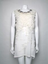 Givenchy Size M UK 10 Sleeveless Silk Front Jewelled Neck Dress BNWTS RRP £575