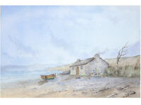 Coastal Landscape - Original Vintage Watercolour Painting