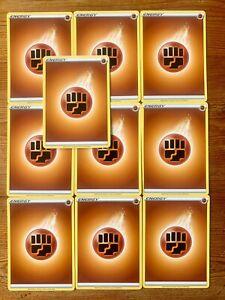 10x Fighting Energy Cards - Pokemon TCG - NM/M - Basic Brown - Various Designs