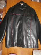 Blouson noir avec liserés rouge simili cuir- MS MODE - Taille 50 - TRES BON ETAT