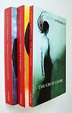 F. Scott Fitzgerald 3 Books Great Gatsby Tender is the Night Beautiful & Damned