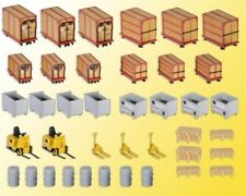 NEW HO Kibri 38647 SMALL LOAD CONTAINERS with Two Forklifts KIT