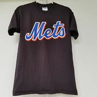 New York Mets Youth T-Shirt Black Wright Baseball (14-16) Large EUC
