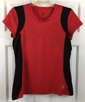 Spyder Women's Red Black Crew Neck Short Sleeve T Shirt Size M US