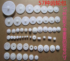 57 Styles Plastic Gears All Module 0.5 Robot Parts Aperture 1.5/2/2.5/3 for DIY