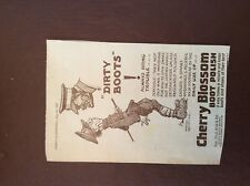 J1g ephemera 1937 cherry blossom shoe polish advert dirty boots bring trouble